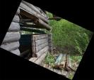 Бревна ещё крепкие, так что возможно, жители соседних деревень, у кого найдётся лошадь, телега и силёнки, разбирают старые дома на новое строительство.