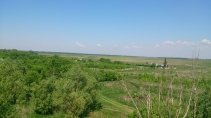Из окон видно деревню